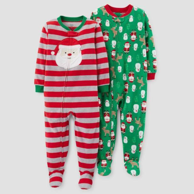800d9b250 Details about JUST ONE YOU CARTER'S Toddler Boys' Fleece Christmas Footed  Pajama Set Of 2