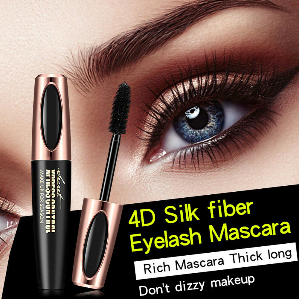 594c46ffb48 Details about Nature Long Soft Makeup Eyelash Black Waterproof Fiber Mascara  Grow Eye Lashes