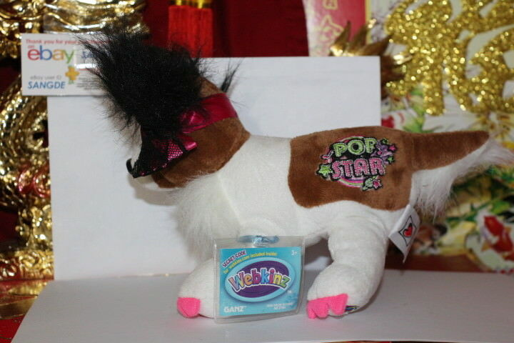 WEBKINZ ROCKERZ PAPILLON.COMES WITH SEALED/UNUSED CODE/TAG ...