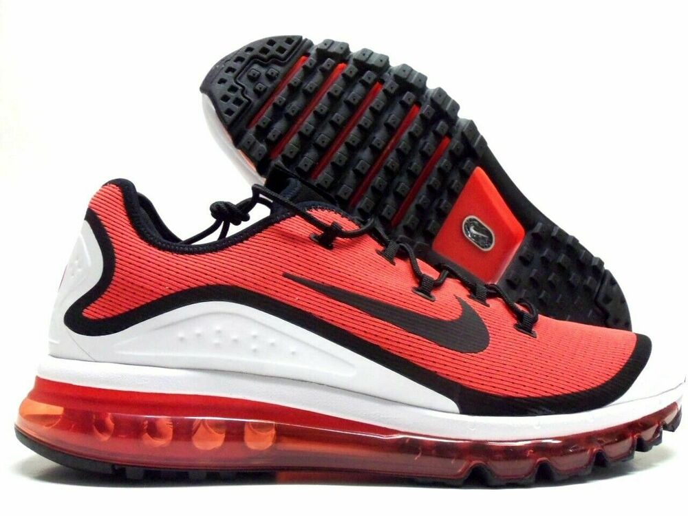 new styles e1501 c6b82 Details about NIKE AIR MAX MORE Men s Running Shoe AR1944 600 Habanero  Red Black