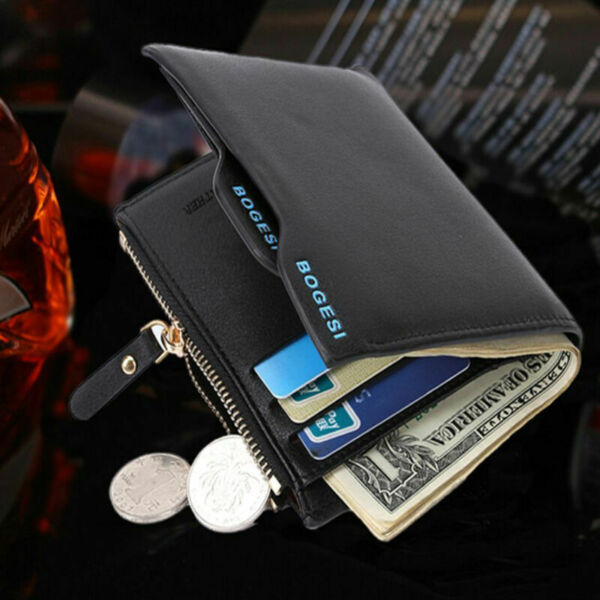 Men Leather Wallet Coin Purse credit Card holders Clutch Bifold Pocket Billfold