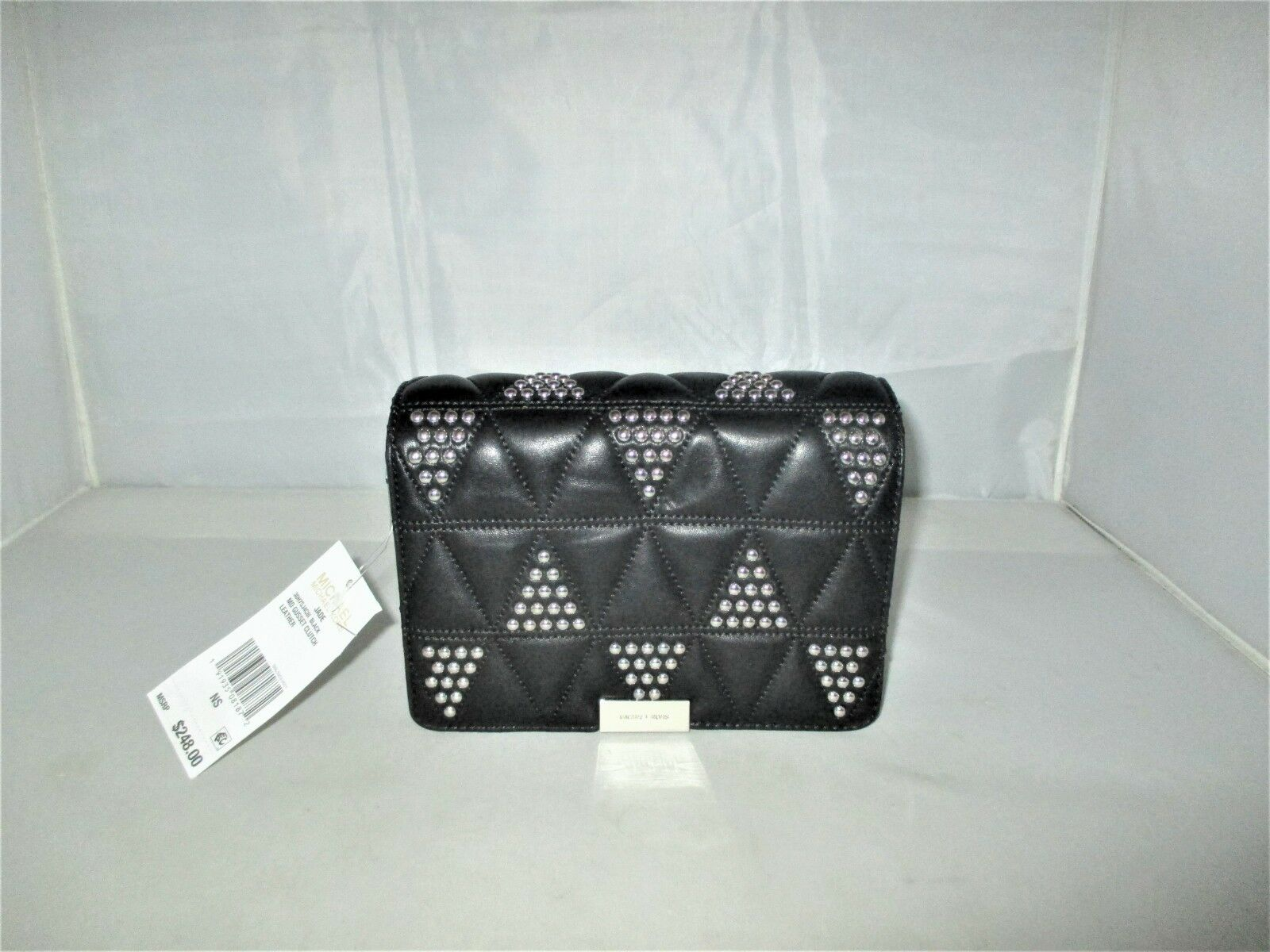 0dad3f311514 ... Black UPC 191935081872 product image for Michael Kors Jade Md Gusset  Quilted-leather Clutch, ...