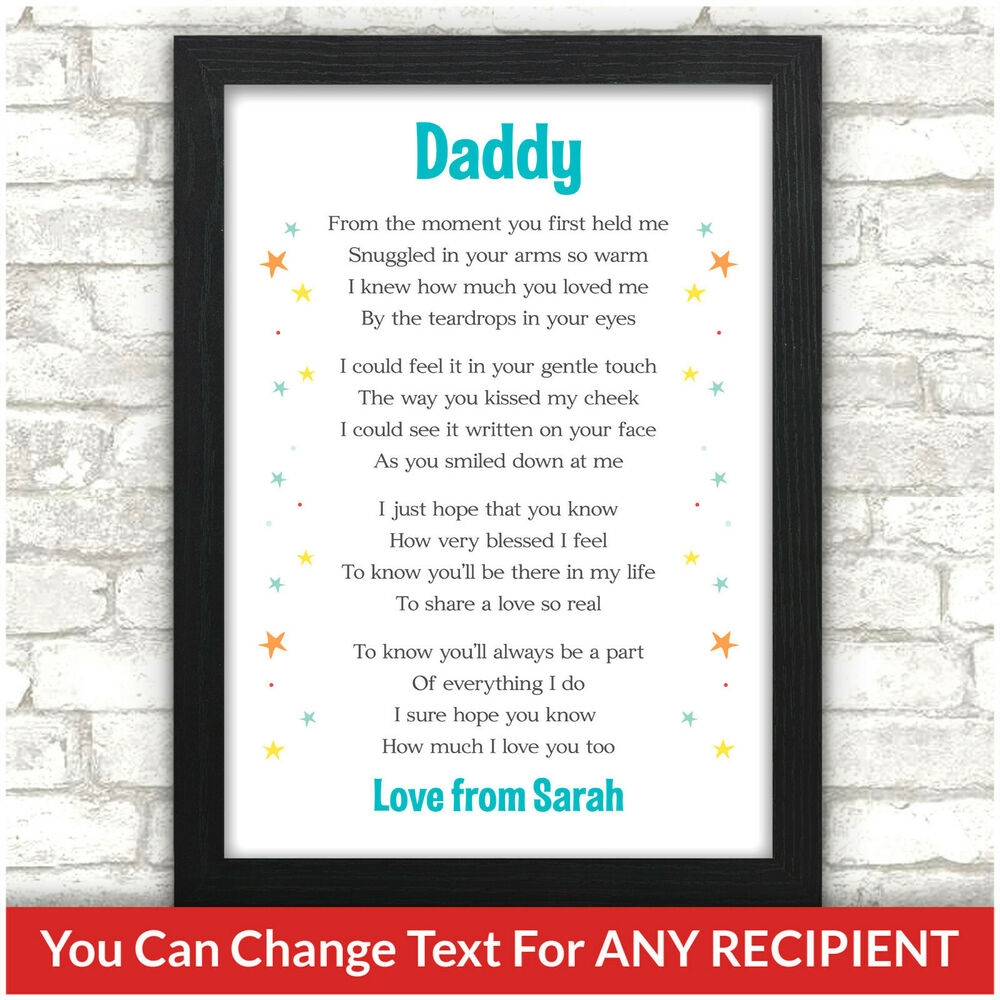 Details About PERSONALISED Daddy Mummy Birthday Gifts From Baby Son Daughter Fathers Day Gift