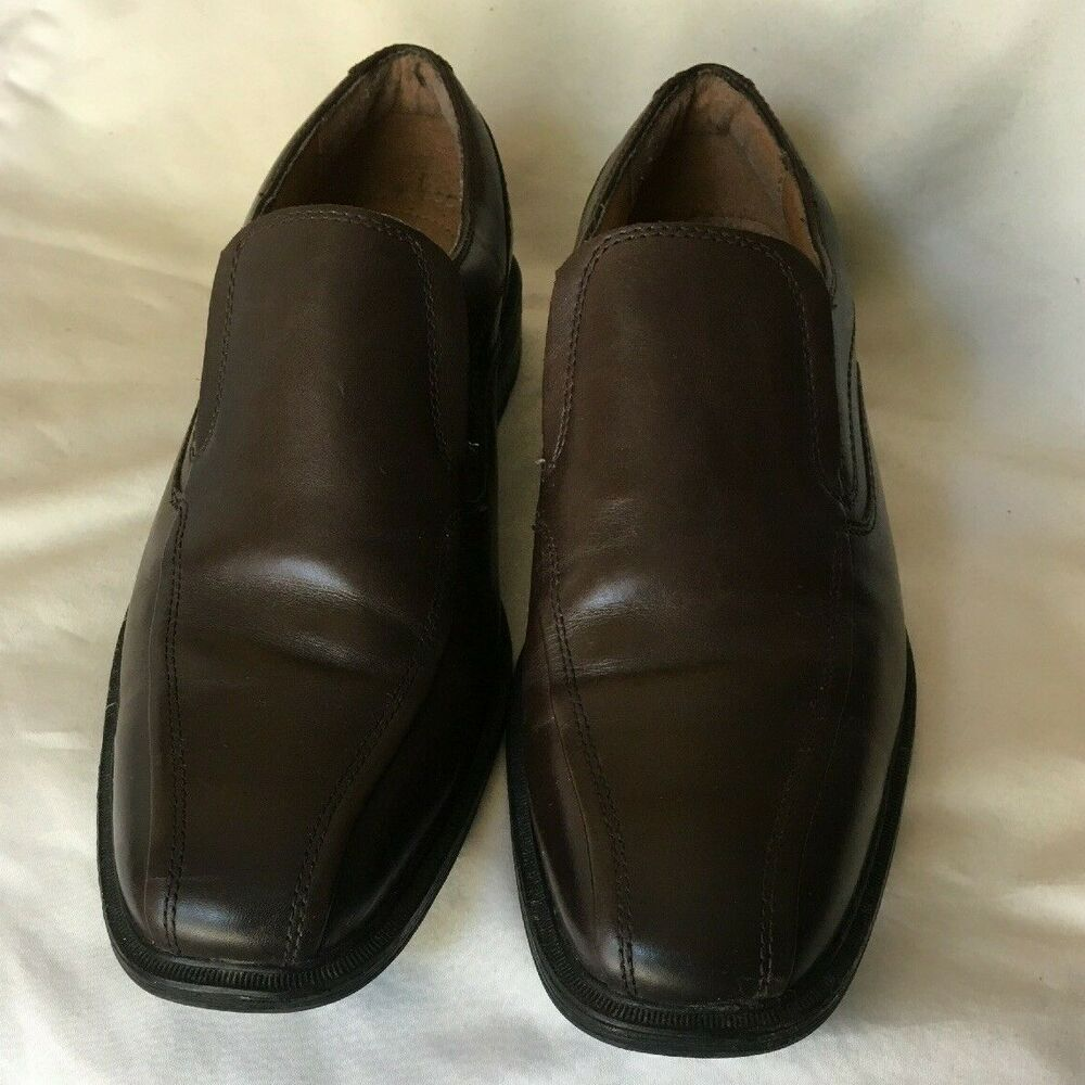 c19ebeaed29 Details about G H BASS   CO Mens Loafers Shoes Size 8.5 D Brown Leather  Upper Slip On