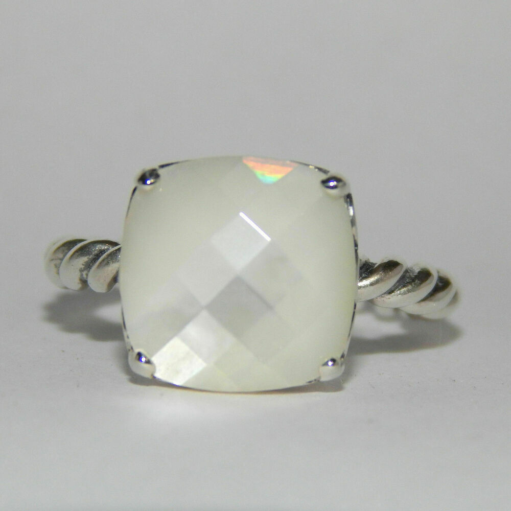 3933e36d3 Details about Authentic Pandora Ring Elegant Sincerity Mother of Pearl  190828MP W Hinged Box