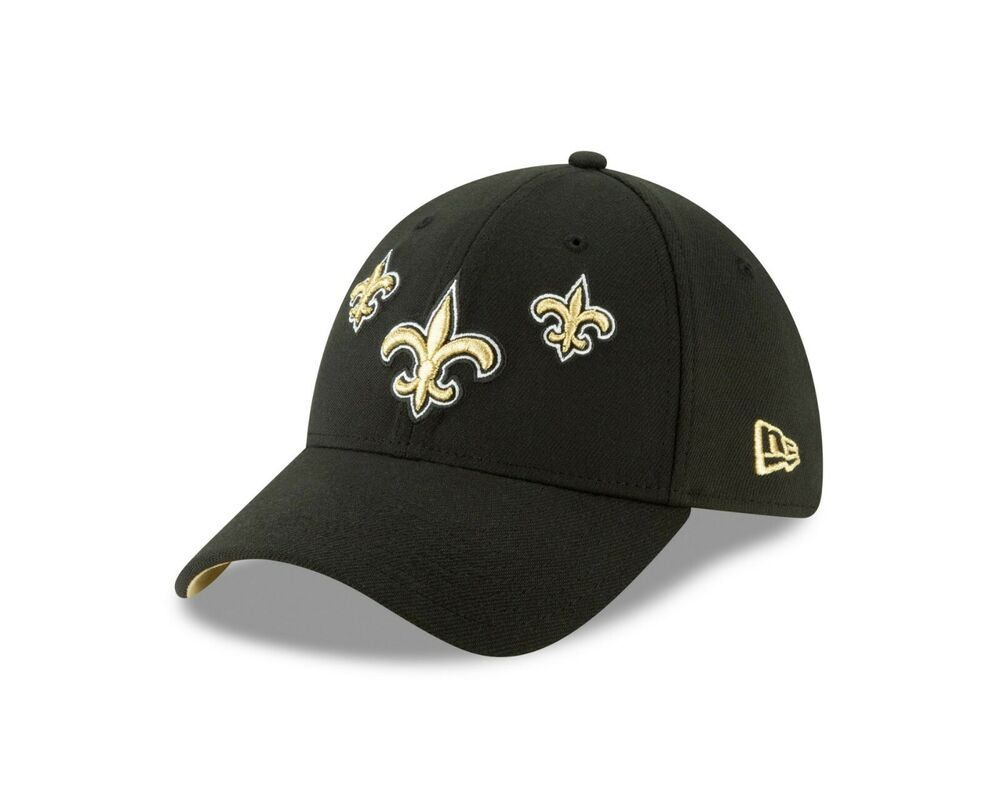 quality design 7fe81 37c65 New Orleans Saints New Era 2019 NFL Draft On-Stage Official 39THIRTY Flex  Hat   eBay