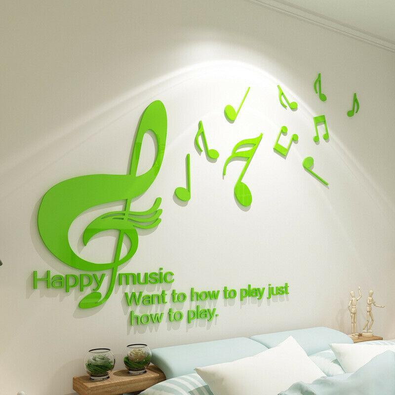 Details About Music Wall Stickers Mural Decals Decor Classroom Children  Room Acrylic