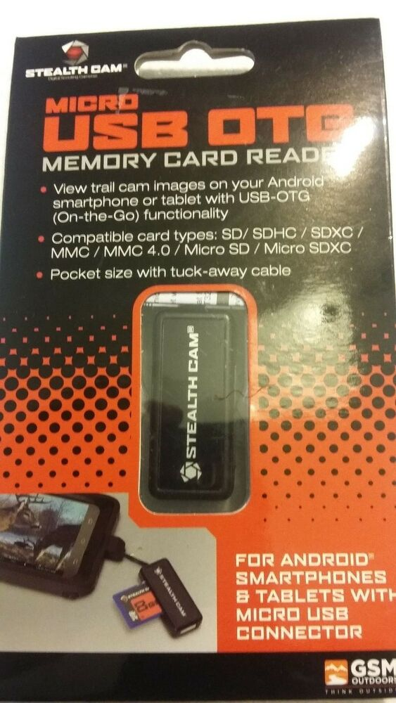 Stealth Cam Micro USB OTG Memory Card Reader For Android