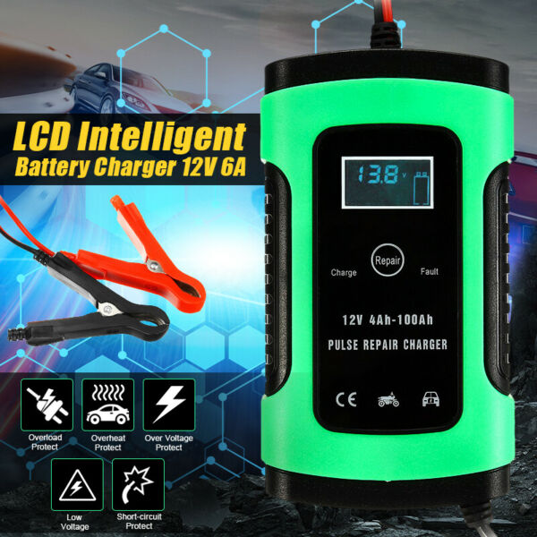 12V Auto Voiture Chargeur de batterie Intelligent 4-100AH impulsion