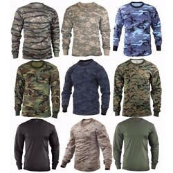 Kyпить Rothco Military Tactical Long Sleeve Camo T-Shirts - Sizes: S-2XL на еВаy.соm