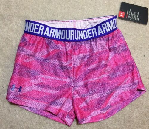 Under Armour Heat Gear Pink/Purple Shorts - Girl's Size 4T - NEW