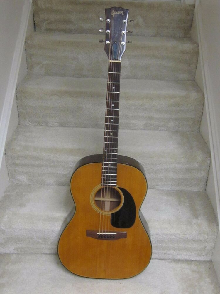 1970 gibson b25n acoustic guitar with hardshell case very nice ready to play ebay. Black Bedroom Furniture Sets. Home Design Ideas