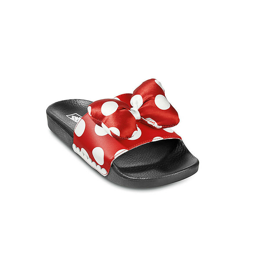 7f30f8be020e Details about NWT Vans Disney Limited 90th Anniversary Slide On Minnie s Bow True  White LAST 1
