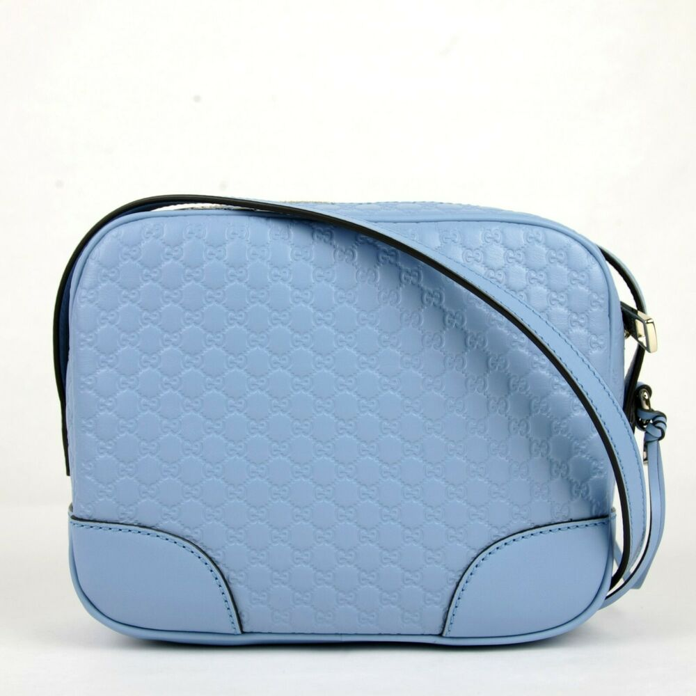 875820f65c7f7c Details about New Gucci Light Blue Micro Guccissima Leather Camera Bag  449413 4503