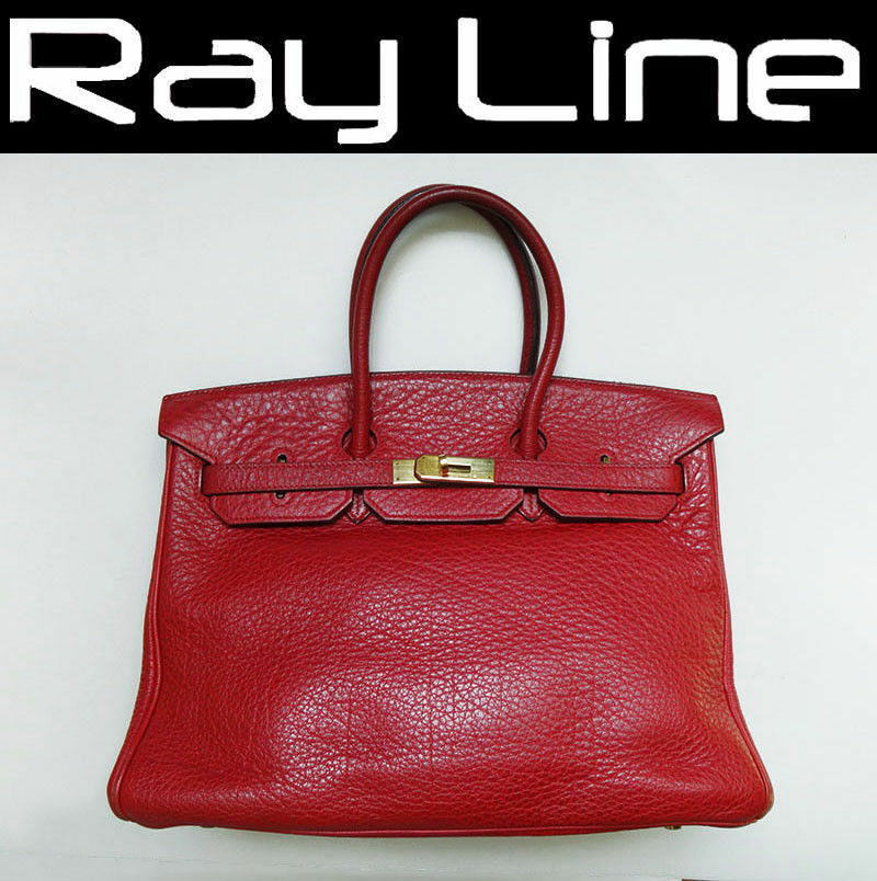e34b4101a7 Details about 100% authentic HERMES Birkin bag HERMES 35 bag red [Used]