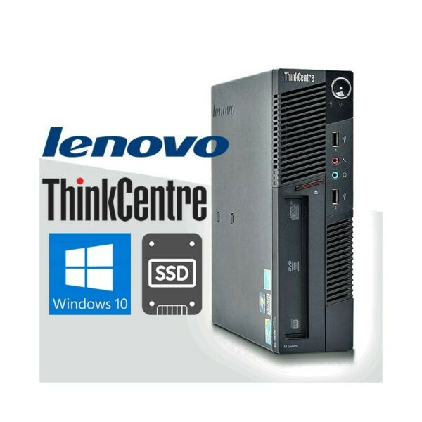 PC COMPUTER FISSO DESKTOP LENOVO M90 i3 SMALL WIN 10 4GB SSD 240GB COMPATTO.