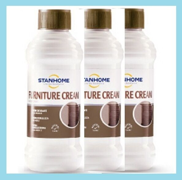 STANHOME: set 3 FURNITURE CREAM CREMA NUTRIENTE MOBILI 3x250 ml - Confezione NEW