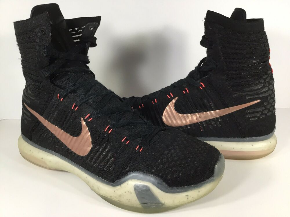 low priced e3881 fb6ff Details about Nike Kobe X 10 Elite Rose Gold Black Red Lava Mens Size 9.5  Rare 718763-091