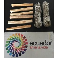 Kyпить 6 Palo Santo Wood & 2 White Sage Smudge Sticks: Cleansing Negativity Removal на еВаy.соm