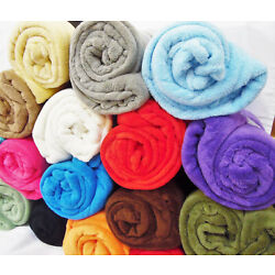 SMALL THROW FLANNEL FLEECE COSY TODDLER BED BLANKET BABY NURSERY SOFT PLUSH WARM