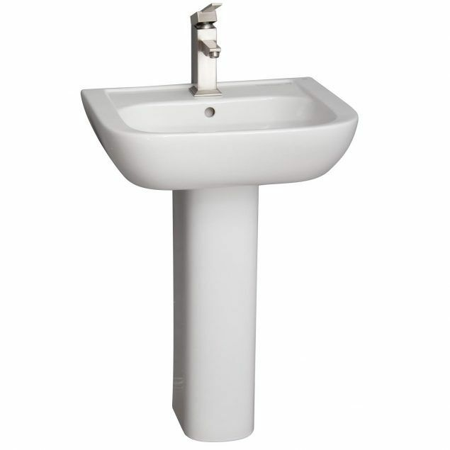 Barclay Hartford Pedestal Sink.Barclay Caroline 550 Pedestal Lavatory White Finish 8 Widespread