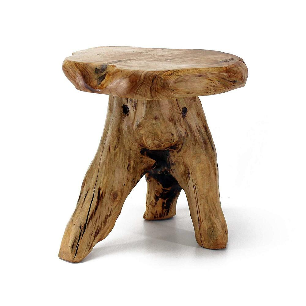 Details About Cedar End Table Solid Wood Furniture Log Cabin Lodge Style Nightstand Stool New