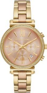 Michael Kors Sofie Crystal Rose Gold Dial Ladies Watch MK6584