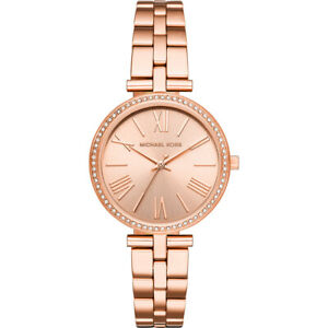 Michael Kors Maci Crystal Rose Dial Ladies Watch MK3904
