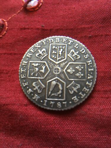 King George III 1787 Silver Shilling No Hearts Spinks 3743
