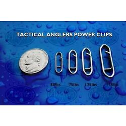Kyпить Tactical Anglers Power Clips Fast Snap Fishing Terminal Multipacks [25 - 175lb] на еВаy.соm