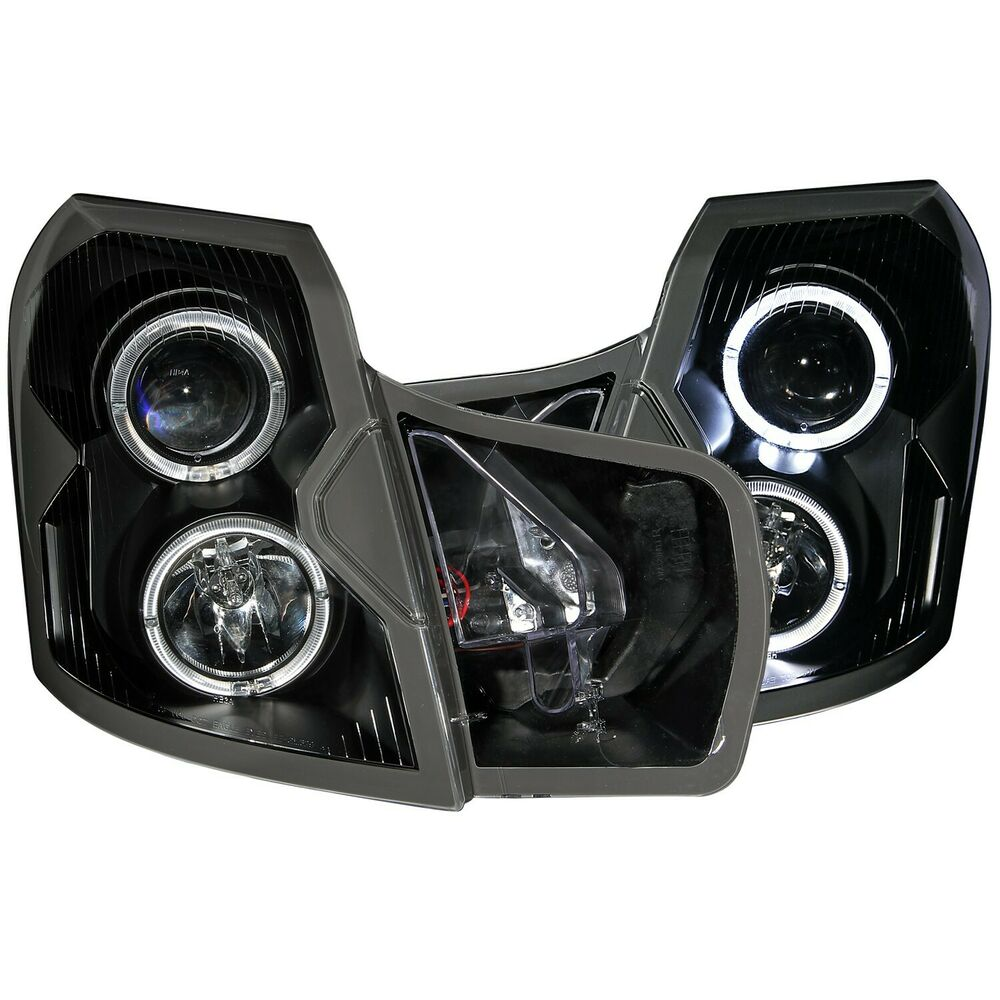 Anzo Projector Headlights Halo Black For 03