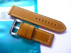 398f0636a798 Leather strap in 24mm - Super thick asso leather in 24 24mm for your Panerai
