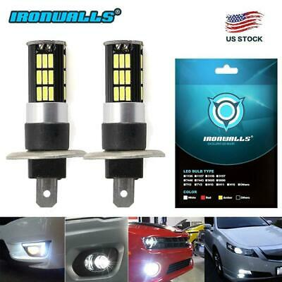 2X H1  LED Fog Light Bulbs Headlight Conversion Kit Super Bright 6000K White