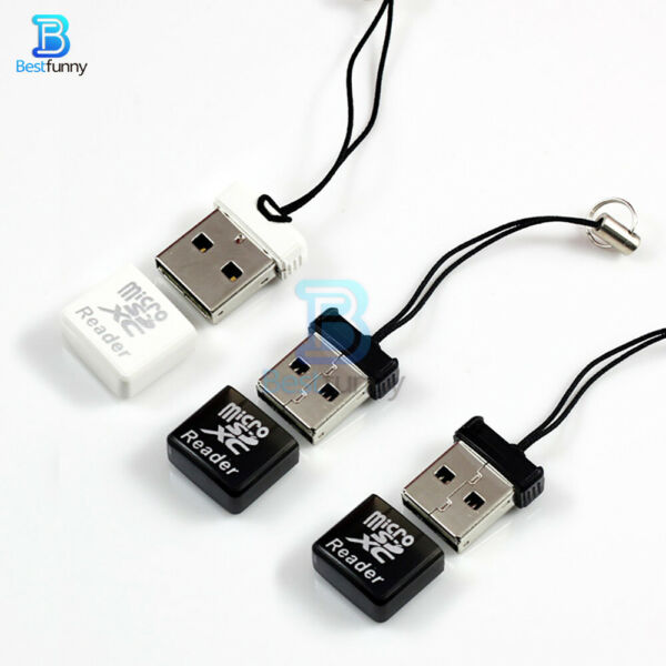 Portable Super Speed Mini USB 2.0 TF Card Reader Adapter Micro SD/SDXC Memory