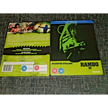 img-RAMBO 3 Blu-Ray UK Exclusive Limited Edition Sold-Out Steelbook Brand New&Sealed