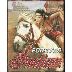 Kyпить American Indian motorcycle vintage reproduction on 12x16in aluminum на еВаy.соm