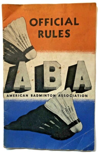 Vintage 1939 American Badminton Shuttlecock Official Rules Booklet Association