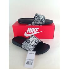 8f1d995d1c5805 Nike Men's Benassi JDI Print Slides Black/Summit White-Different Sizes  Available