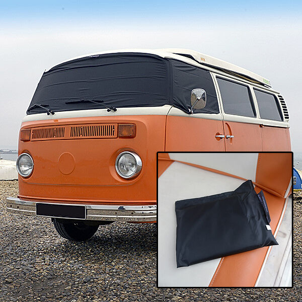 vw t2 bay window camping car pare brise rideaux housse gel. Black Bedroom Furniture Sets. Home Design Ideas