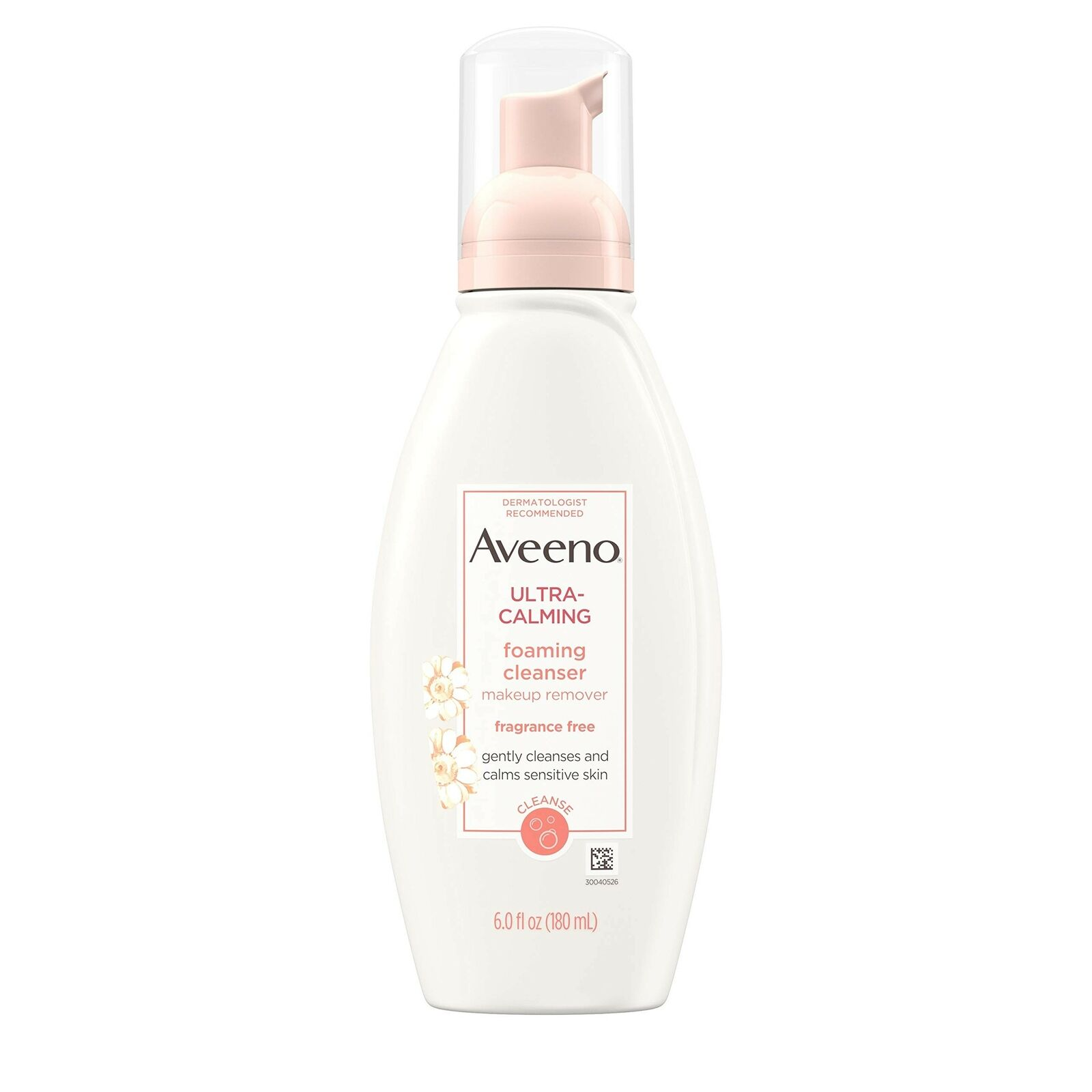 Aveeno Ultra-calming Foaming Cleanser And Makeup Remover For Dry, Sensitive S...