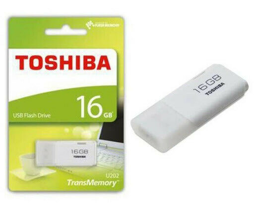 Toshiba 16GB Flash Drive TransMemory USB 3.0 Memory Stick U301 - White