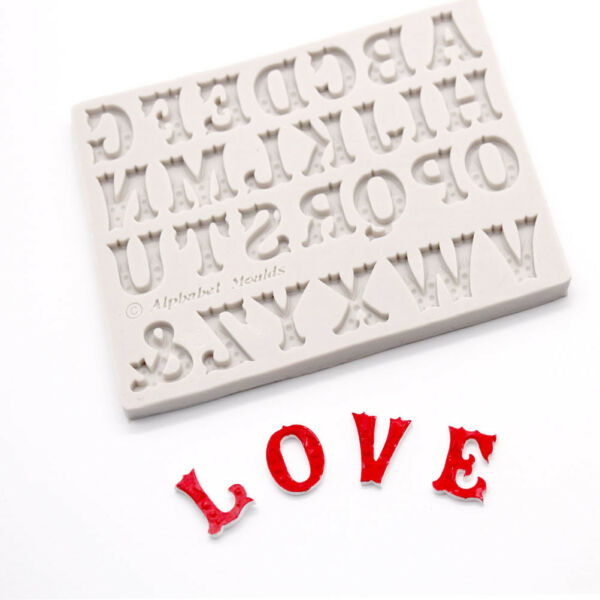 English Alphabets Letter Silicone Fondant Mold Chocolate Mould Cake Decor Too HU