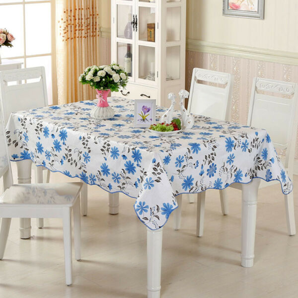 Tablecloth Waterproof Dustproof Table Cover Outdoor Picnic Mat Wear Resistant
