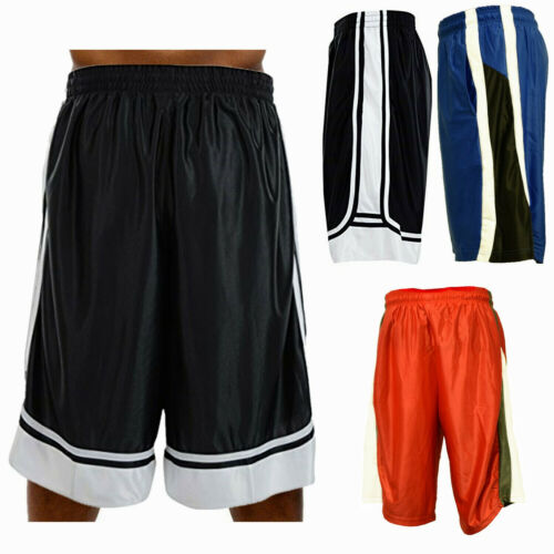 Men Basketball Shorts Heavy Mesh Quick-Dry Gym Sport Workout Running w/2 Pockets