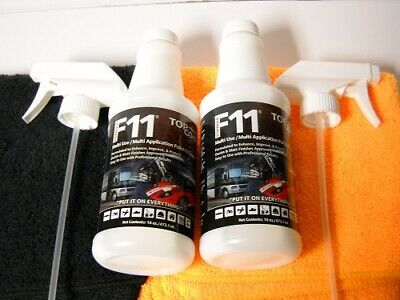 F11 TopCoat - TWO 16 oz Bottles & 4 microfiber towels - Factory Sealed Bottles