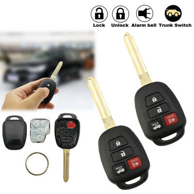 2x For Hyq12bdm Toyota Camry Keyless Remote Fob Car Ignition Key 4 Button H Chip