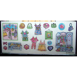 Waverly DRESS UP Wall Appliques Cutouts Stickers Paper Dolls For Kids