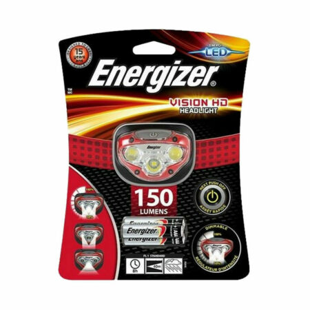 img-Energizer Vision HD LED Headlamp Camping Torch Hiking Fishing Light
