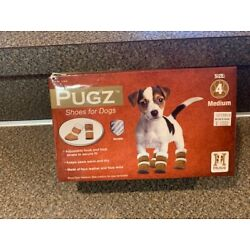 PUGZ - HUGS PET PRODUCTS /SHOES FOR DOGS FAUX SUEDE/WOOL~ SIZE 4 Medium A8