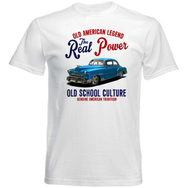 VINTAGE INSPIRED AMERICAN CAR CHEVROLET STYLELINE - NEW COTTON T-SHIRT